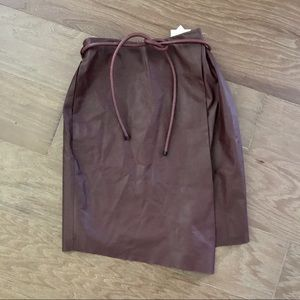 NWT Robert Rodriguez Leather Skirt